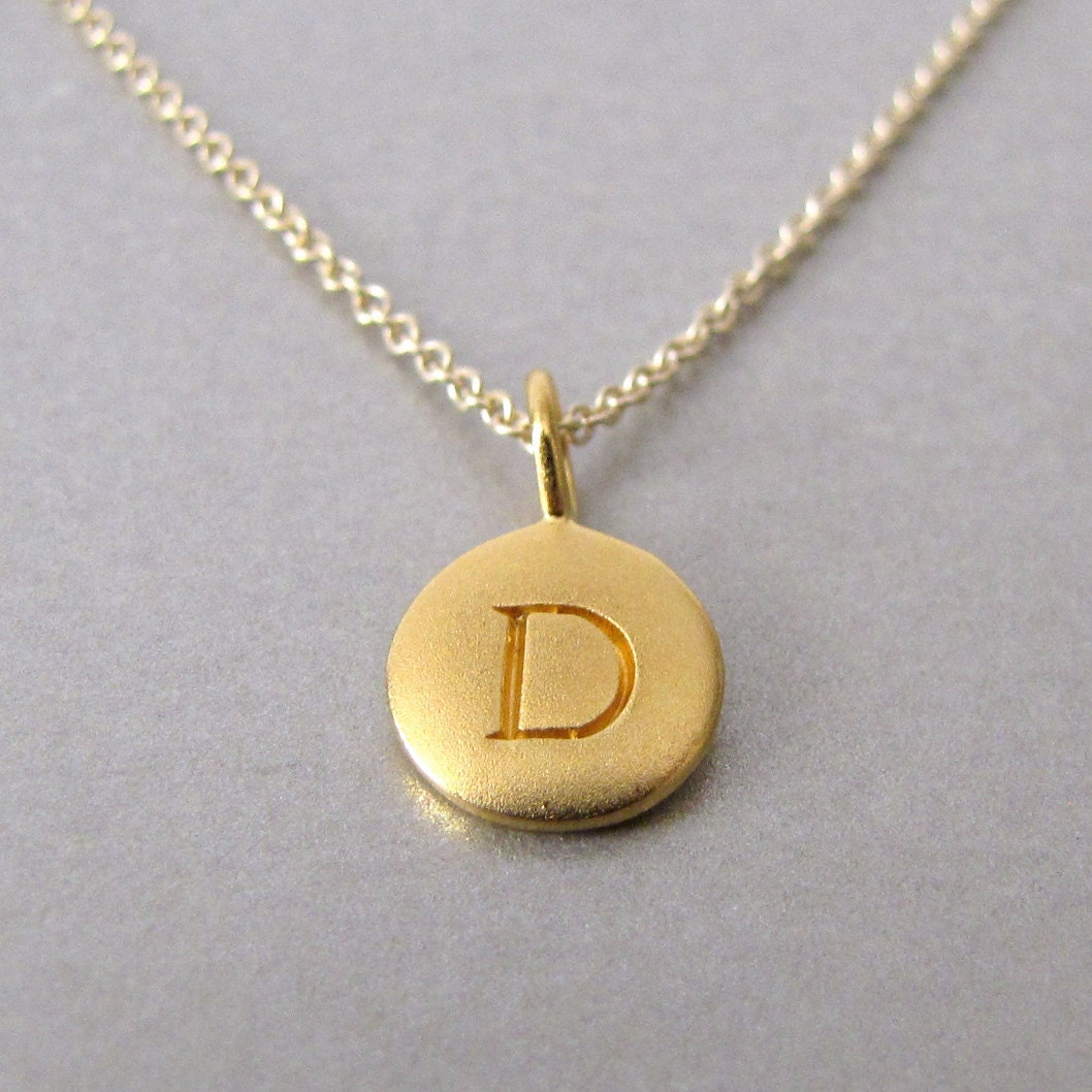 Personalized gold initial charm necklace initial necklace for Custom letter necklace gold