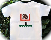 Personalized Football Shirt or Onesie Boys Ric Rac Football Goal