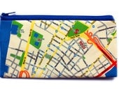 I LOVE NEW York pencil case with New York map pattern zipper pouch clutch for men for woman