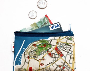 TEL AVIV JAFFA map wallet / coin purse / hebrew souvenir from Israel