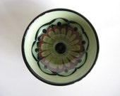 H.A. Kahler Small Bowl Danish Mid Century Modern Vintage Scandinavian Pottery Abstract Flower
