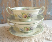 Vintage Cream Soup Bowls Set of 2 Royal Doulton Chelsea