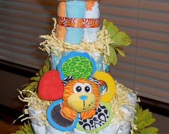 Tier Playful Diaper Cake With Lots of Goodies Made To Order You Choose the Theme Bonus 3 Tier Price