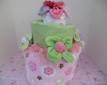 Posh Topsy Turvy Baby Diaper Cake.