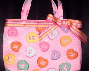 Sweet Conversation Hearts Valentine's Day Girls Handbag, Purse