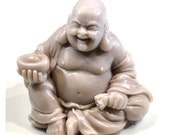 Laughing Buddha Soap Art in Taupe