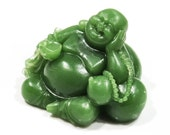 Jade Green Soap Laughing Buddha with Beads Any Color
