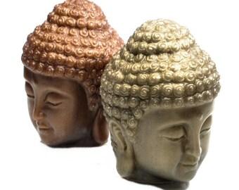 Buddha Head Soap in Bronze, Verdigris or Pewter - Handmade Gift Soap
