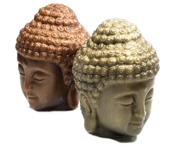 Buddha Head Soap in Bronze, Verdigris or Pewter - Handmade Gift Soap