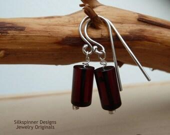 Amber & Silver Earrings/ Ohrhänger aus Bernstein und Silber