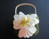 Flower Girl Basket Ivory Wedding