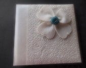 Photo Album Teal Ivory Jasmine Flower Hallmark