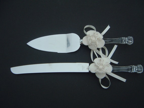 cake knife and server set wedding ivory. Black Bedroom Furniture Sets. Home Design Ideas