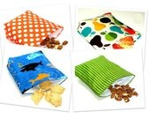 Gusseted Reusable Snack Bag - Receive 4 Gusseted Reusable Snack Bags at a Discounted Price