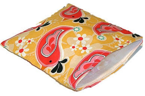 Clearance Sale .... Reusable Sandwich Bags - Euro Bird Sandwich Bag - Reusable, Stylish & Eco-Friendly