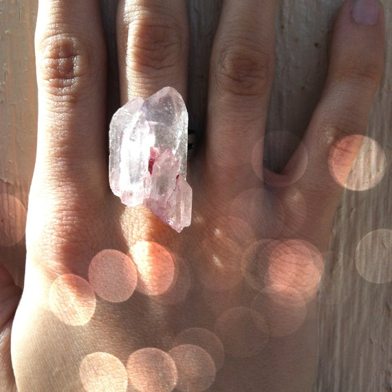 Multi Crystal Quartz Ring in Rose // Jewelry