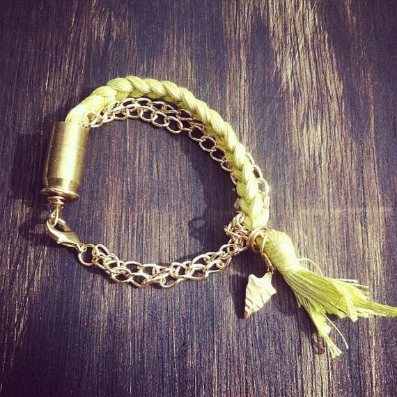 Friendship Bullet Bracelet // Lime // Jewelry
