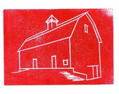 4 Red Barn2 Greeting Cards