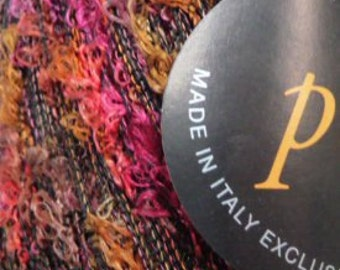 Pansy color 4 by Tahki SC. Boucle yarn Made in Italy