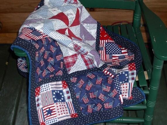 patriotic lap quilt