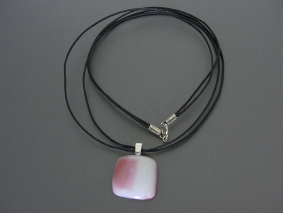 Pink Fused Glass Pendant