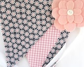 Bunting/Fabric Flag Banner, Girls Bedroom/Playroom/Nursery/Party/Baby Shower
