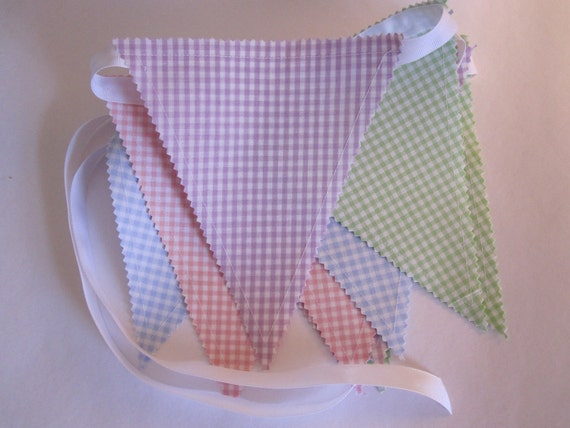 Bunting/Fabric Flag Banner, Nursery/Baby Shower/Girl Bedroom