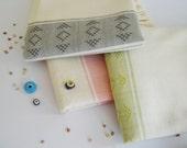 Handwoven Bath Towel, Kilim Peshtemal, Natural Soft Cotton Bath, Spa,  Beach Towel, Green