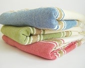 Turkish Towel for Bath and Beach, high quality Peshtemal, hammam, Soft and Thin, Red
