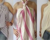 Bridesmaids  Package, Turkish Bath and Beach Towel, Peshtemal, Beach Wedding Party, Purple, Pink and White