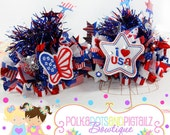 4th Of July Butterfly  Over The Top Loopy Bow