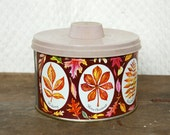 Mrs. Lelands Tin with Colorful Leaves