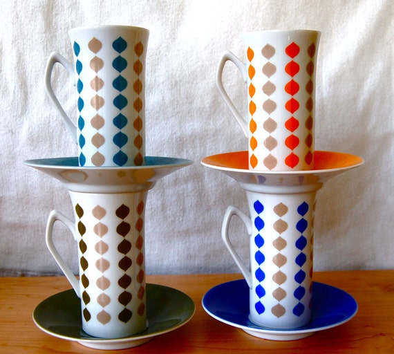 RESERVED for Heather - Coffee Tea Cups - Vintage Porcelain