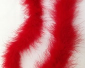 Marabou Boa 2 yards long - Red