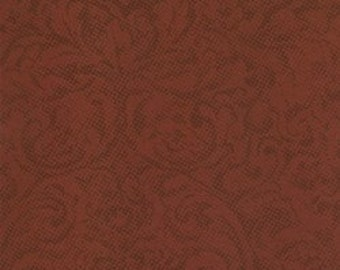 Fabric Puzzle Pieces Leather by Moda Fabrics color Burgandy 1000 38 - quilting fabric - cotton fabric