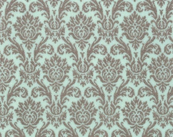 Blitzen Damask by basicgrey Mint Grey 30298 15 - quilting fabric - cotton