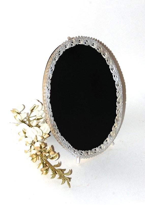 Shabby Chic Chalkboard Frame, Wedding Sign, Brass, Lace Scalloped, Oval, Whitewash, Wedding Keepsake