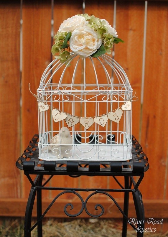 One Wedding Card Birdcage and Personalized Card Banner (Ships Quickly)