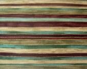 Aqua Blue, Brown Stripes - 2 yards