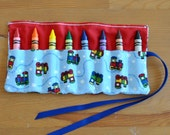 Choo Choo Train Crayon Roll - 8 count large crayons
