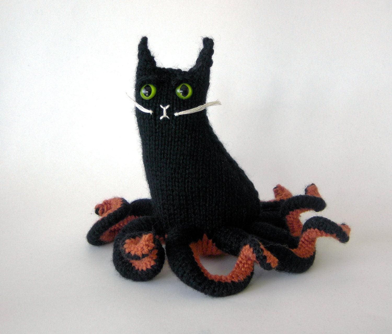 Halloween Knitted Amigurumi Cat Octopuss: Hallowpuss