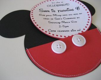 Mouse handmade sewn personalized invitation - 10