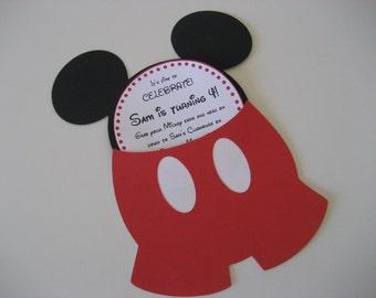 Mouse pocket handmade personalized invitation - 15