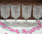Anchor Hocking WEXFORD Tall Wine Goblets - Set of 4