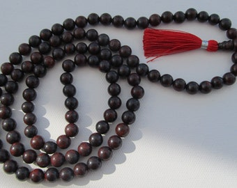 Mala - Japa mala - 8mm brecciated jasper 108 beads tassel mala