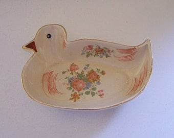 Vintage Duck Dish  Vitreous China