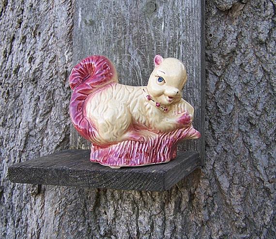 RESERVED FOR SARAH  Vintage Squirrel Planter