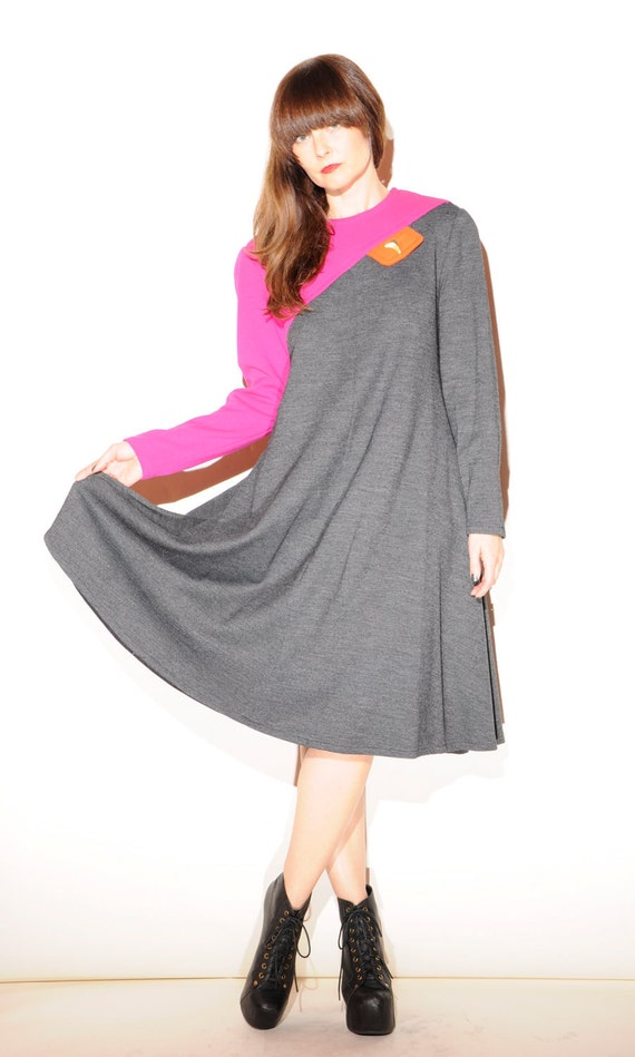 SALE Bill Blass Colorblock Dress - Wool