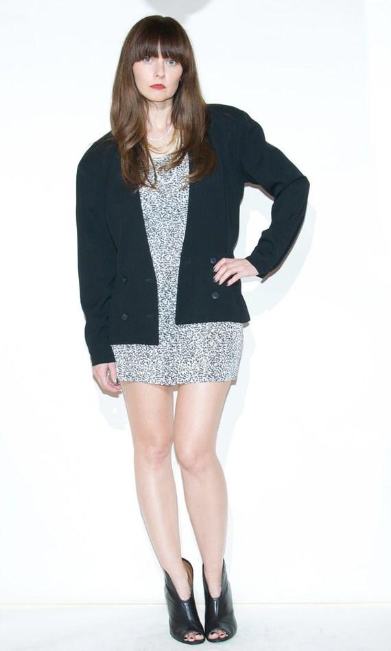 SALE Christian Dior Black Wool Jacket Blazer Sz 4