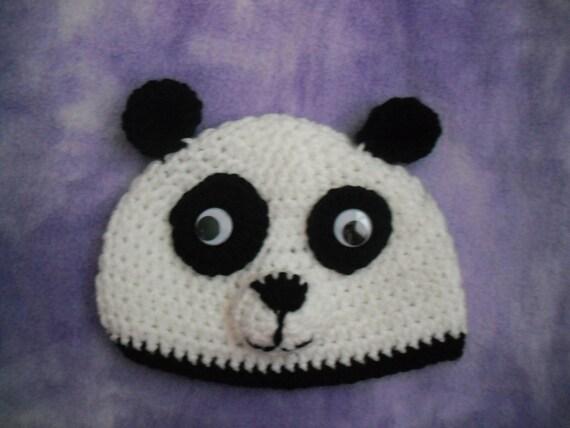 Baby - Toddler Panda Hat - Crochet Photo Prop - Great Gift